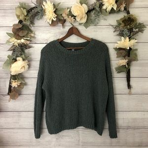 Aerie Olive Green Scoop Neck Sweater sz M ✨